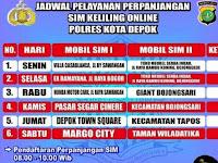 Jadwal SIM Keliling Depok Agustus 2018