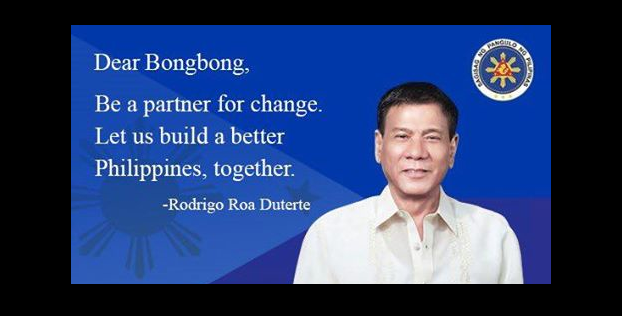 Duterte to Bongbong: Let us build a better Philippines, together