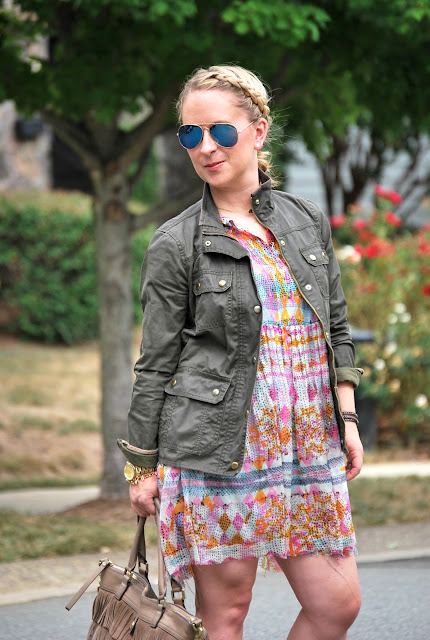 how to transition a summer dress into fall