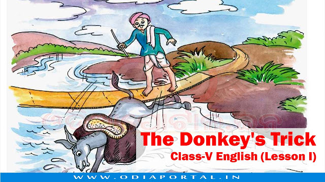 The Donkey's Trick - Class-V English (Lesson I) - Text, Activity and Answers