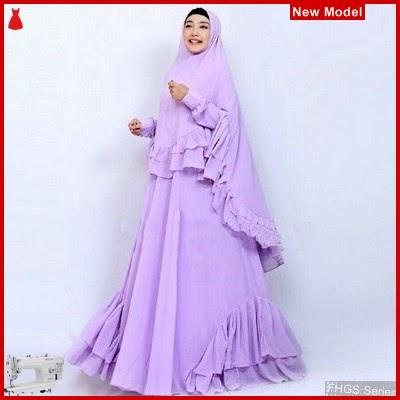 FHGS9084 Model Syari Salwa Lavender, Perempuan Pakaian Muslim Jersey BMG