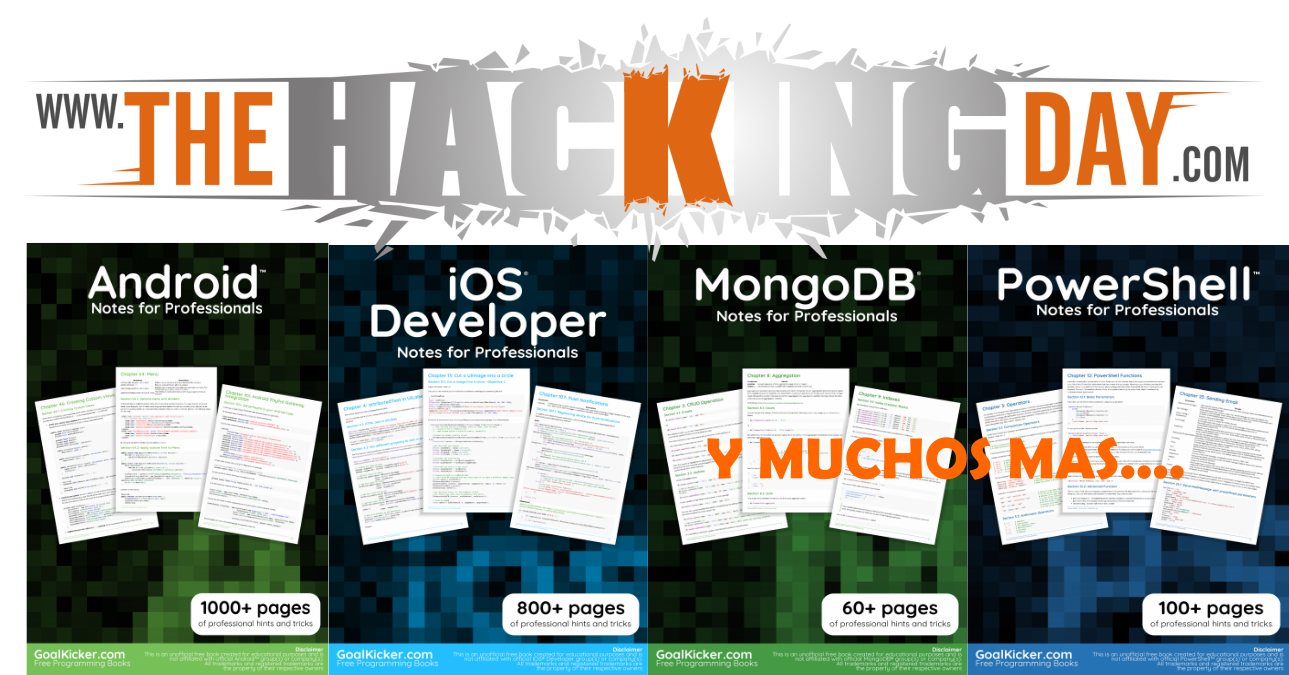 Blog De Descarga De Libros The Hacking Day Blog Libros Gratuitos De ProgramaciÓn Web