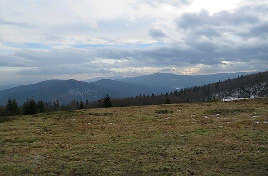 Panorama z Polany Skalne.