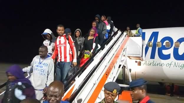 FB IMG 1518510110687 - Photos: Fifth batch of Libyan Returnees arrive in Port Harcourt