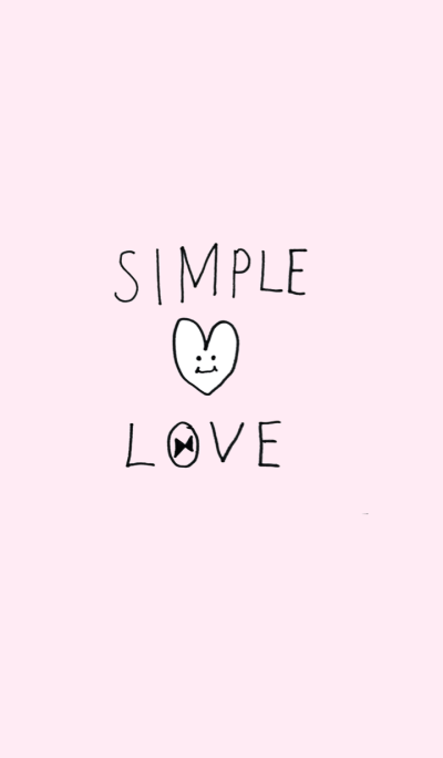 Simple Love - pink heart -