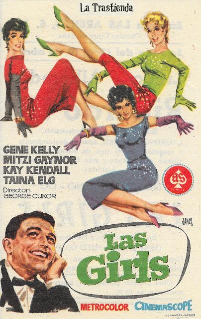 Las Girls - Programa de Cine - Gene Kelly - Mitzi Gaynor - Kay Kendall