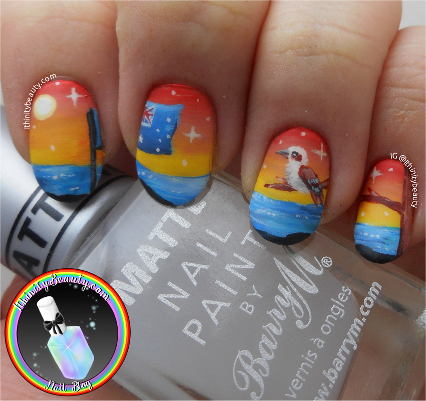 Freehand australia day nail art koala and kookaburra i decided to go for two national animals of australia the koala bear and the kookaburra bird you guys know i love animals and nature prinsesfo Images