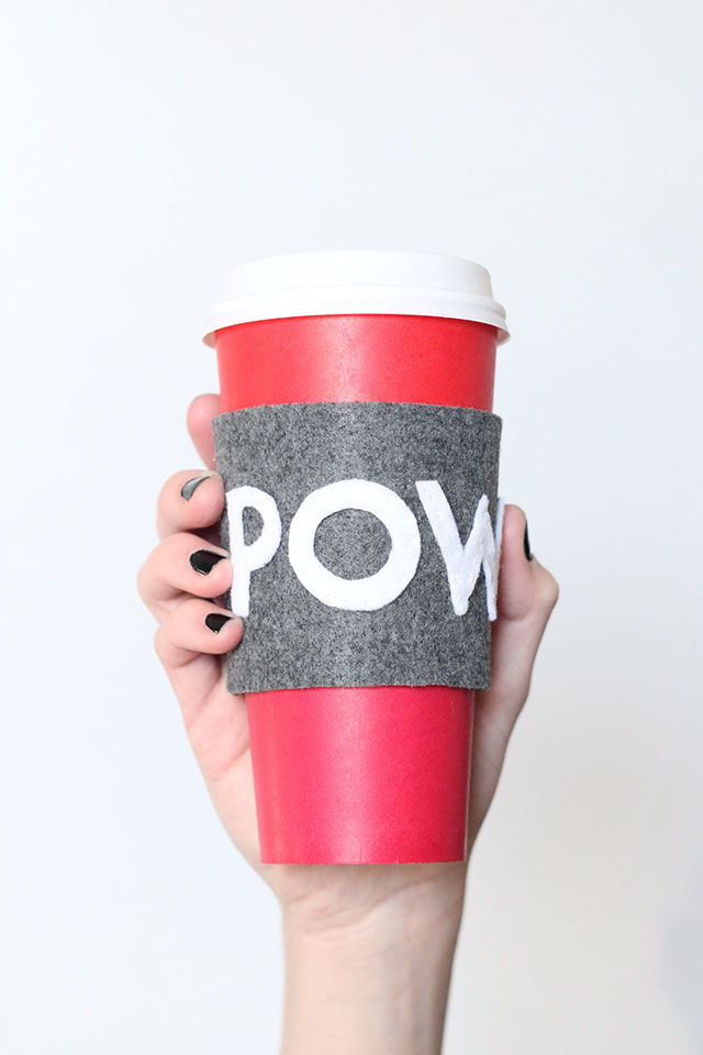 Ka-Pow! How to make your own coffee cup sleeve!