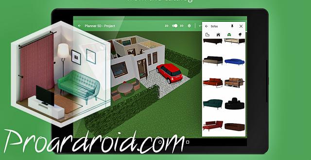 تطبيق تصميم المنازل Planner 5D - Interior Design v1.18.5 النسخة المدفوعة logo
