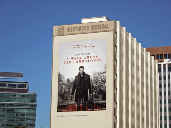 Giant A Walk Among the Tombstones movie billboard