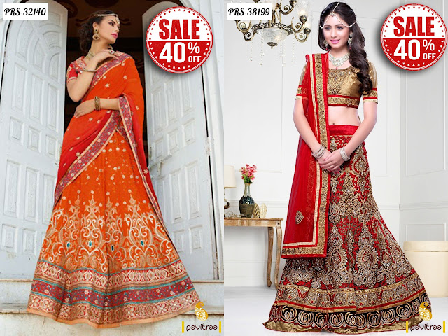Women's day special gift lehengas online sale