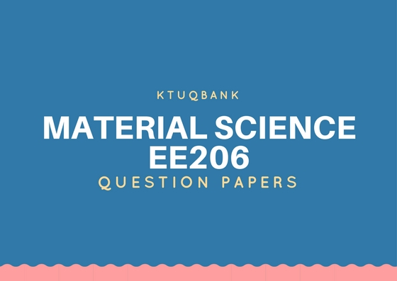 Material Science (EE) | EE206 | Question Papers (2015 batch)