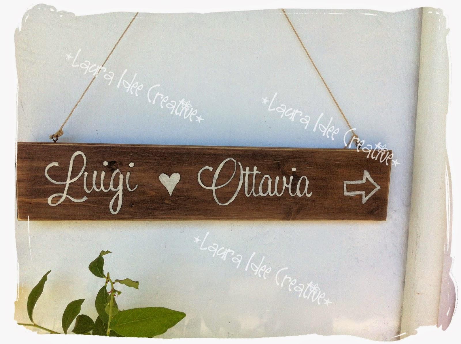 Eccezionale Laura Idee Creative: Cartelli legno matrimonio - Wedding party  GH32