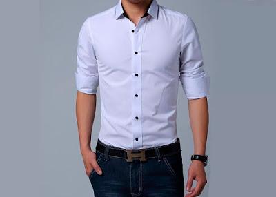 Camisa Blanca Slim Fit en Lima