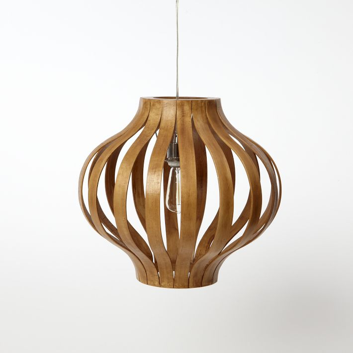 a perfect gray: bentwood pendant lights