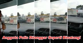 Thumbnail image for (Video) Anggota Polis Patah Kaki, Dilanggar Seperti Binatang!