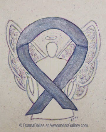 Silver Ribbon Awareness Angel Image Picture