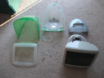 iMac G3 parts, case, disassemble, repair
