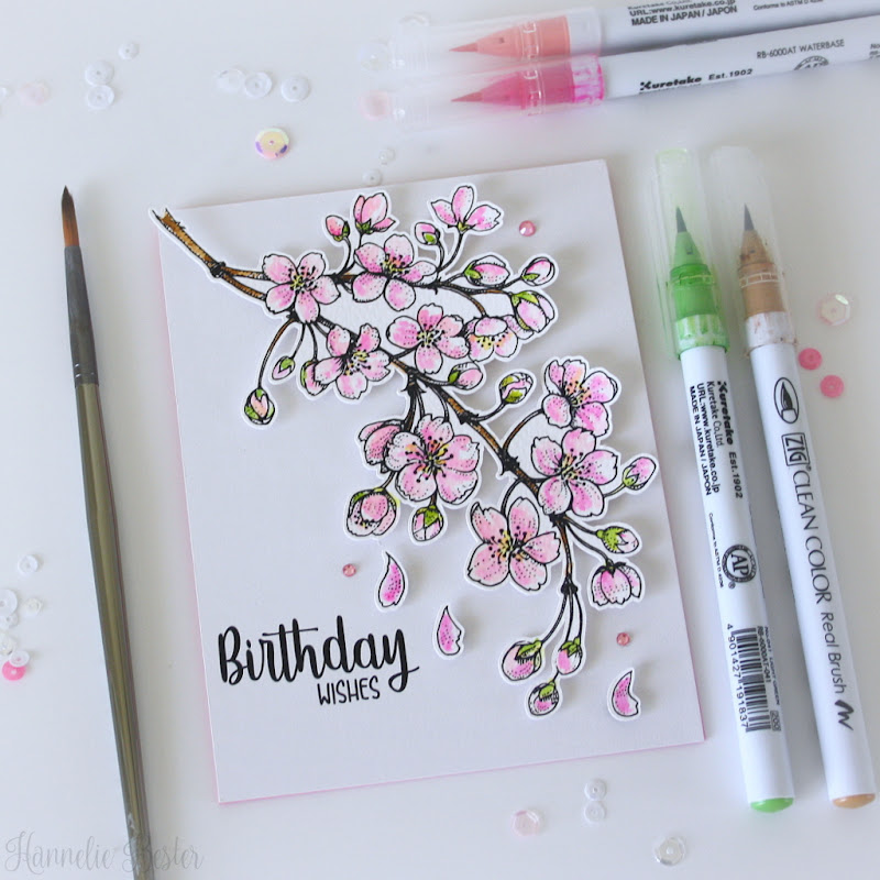 blossoming-cherry from Power poppy stamps