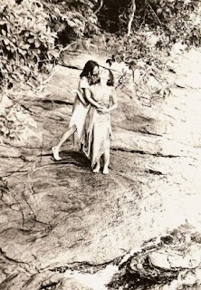 Lucina embraces Luhli on an island in the Bay of Sepetiba (RJ), 1978 Credit Personal Archive