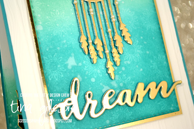 scissorspapercard, Stampin' Up!, CASEing The Catty, Follow Your Dreams Bundle, Rectangle Stitched Framelits, Pinewood Planks DTIEF