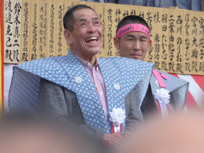成田山節分祭 ぼんちおさむ ランナーズのがんばれゆうすけ