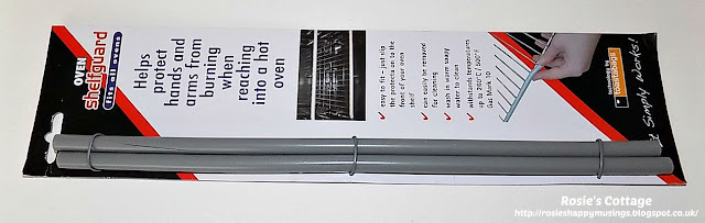 Oven shelfguard protects from burning when using using the oven.