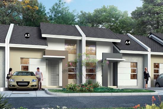 tampak depan rumah minimalis ukuran 6x11 meter 2 kamar tidur 1 lantai