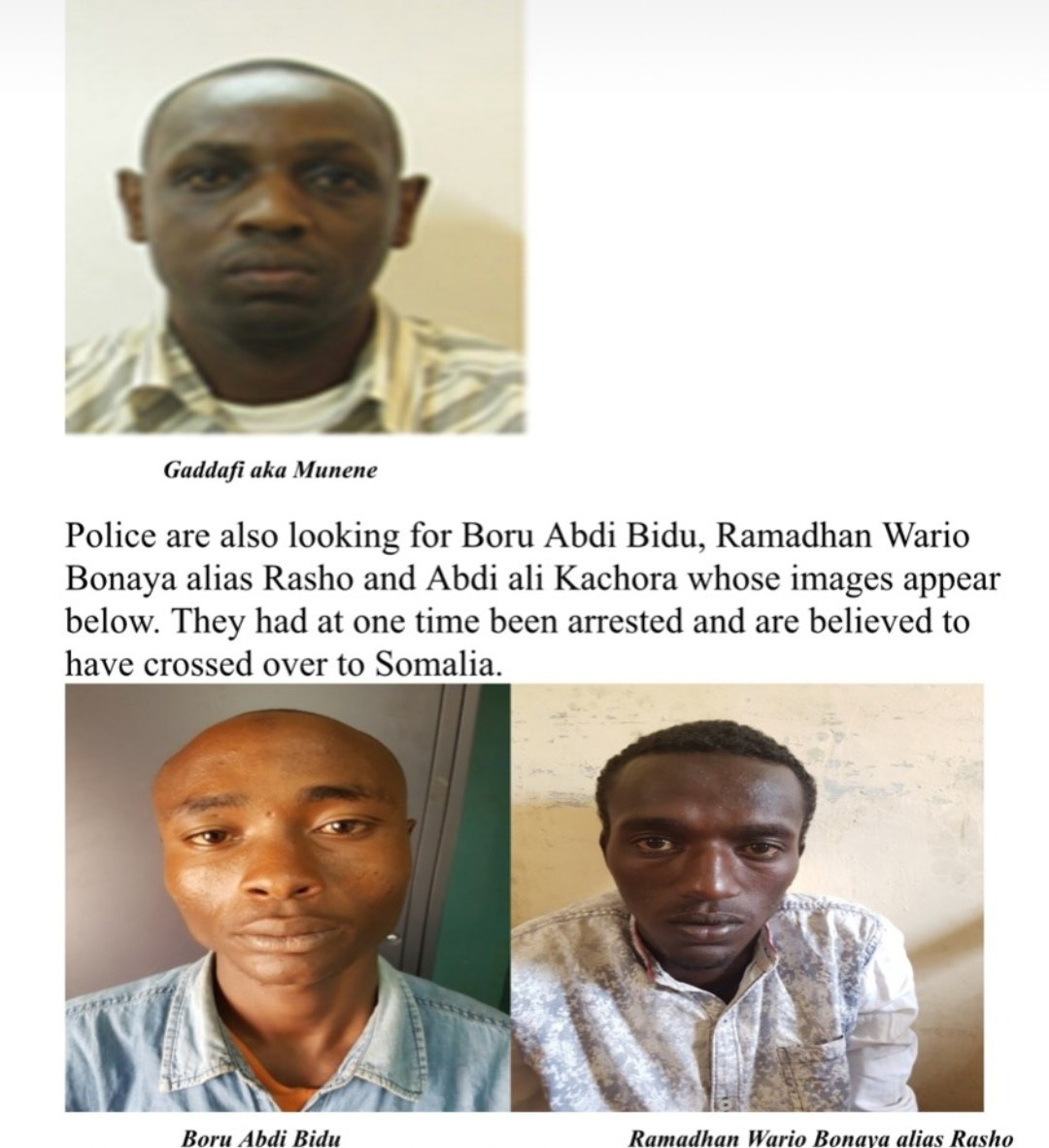 Here Are Photos Of Kenya's Most Wanted Terrorists