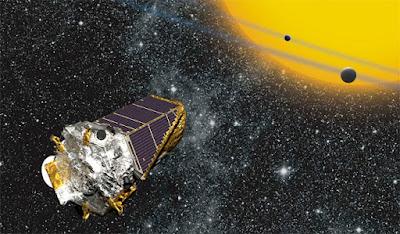 Raffigurazione artistica del telescopio spaziale Kepler  (Fonte: NASA Ames/ W Stenzel)