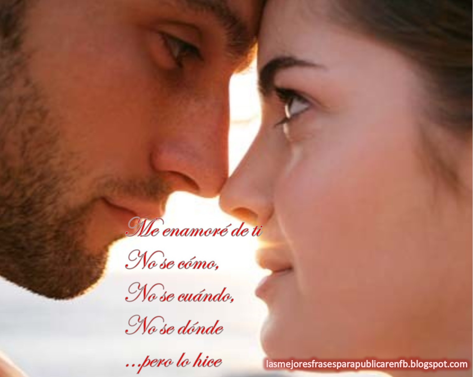 Las Mejores Frases Para Publicar En Fb Frases De Amor Me Enamore De Ti