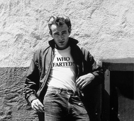 James Dean who farted t-shirt. PYGear.com