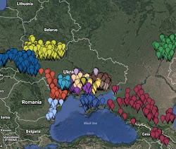 Map: Germans from Russia Settlement Locations