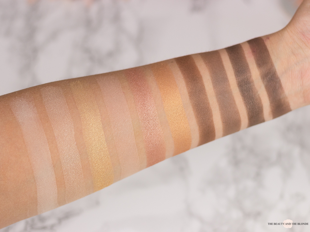 e.l.f. Cosmetics Eyeshadow Palette Need It Nude Swatches Review elf