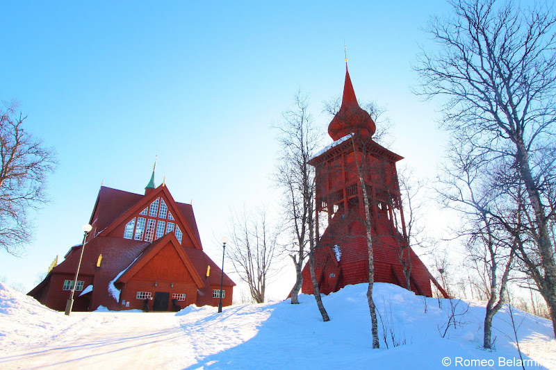 Kiruna Church and Bell Tower Sweden