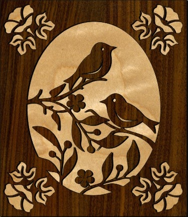 Scrollsaw Workshop: Two Birds Scroll Saw Pattern.