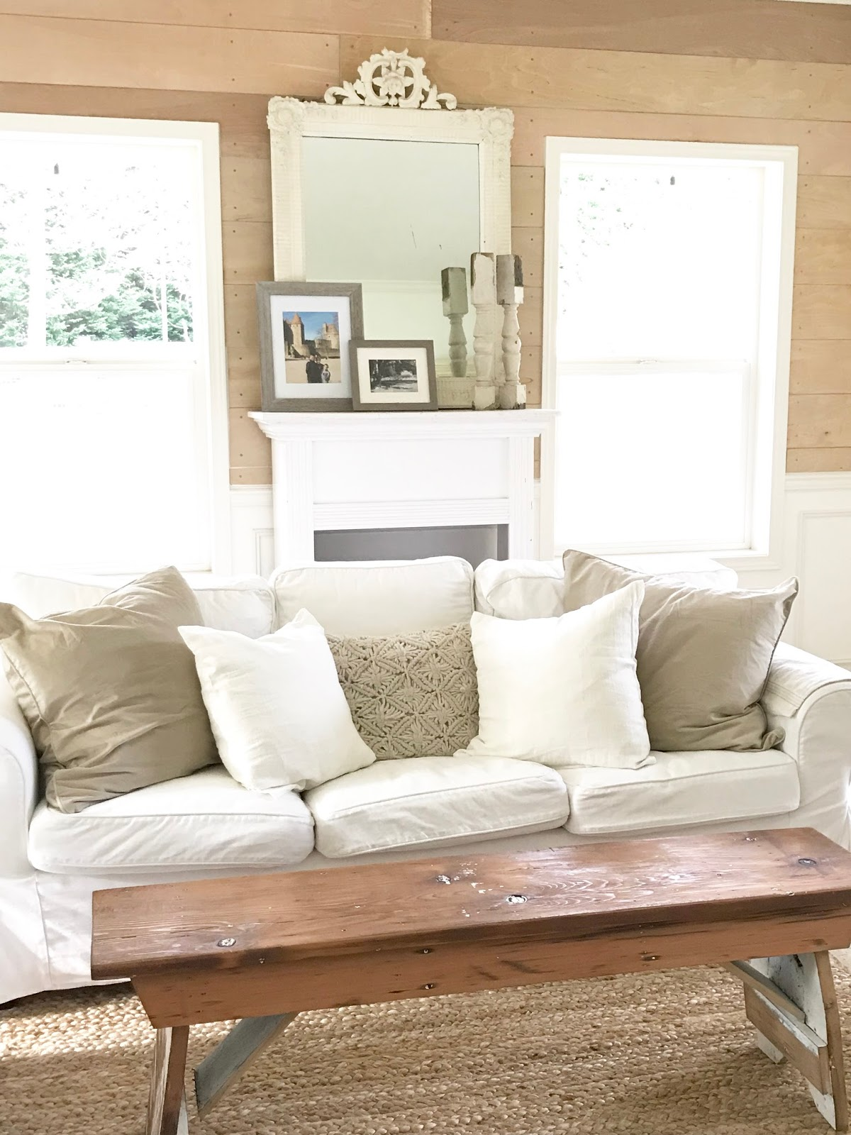 Little Farmstead: Three Ways to Add Warmth to a Mostly White ...