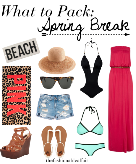 What to pack for spring break