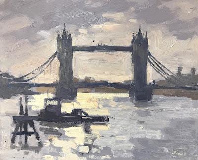#234 'Morning Light, Tower Bridge' 8×10″