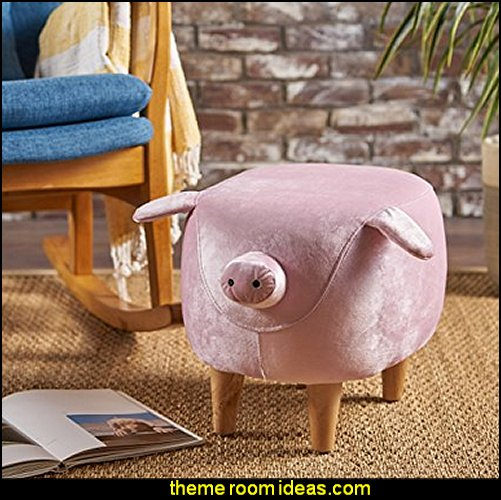 Pink Velvet Pig Ottoman Novelty Furniture   Unique Furniture   Fun Gifts    Unusual Gifts