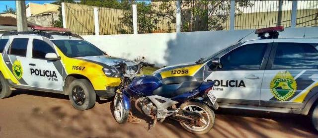 PM recupera motocicleta furtada em Iretama