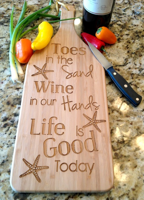 Beach Quote Cutting Board