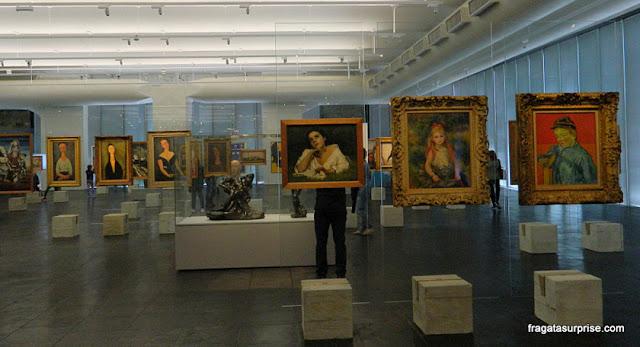 Telas de Van Gogh, Renoir e Modigliani no MASP - Museu de Arte de São Paulo,