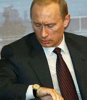 Часы Патек Филипп на руке президента Путина