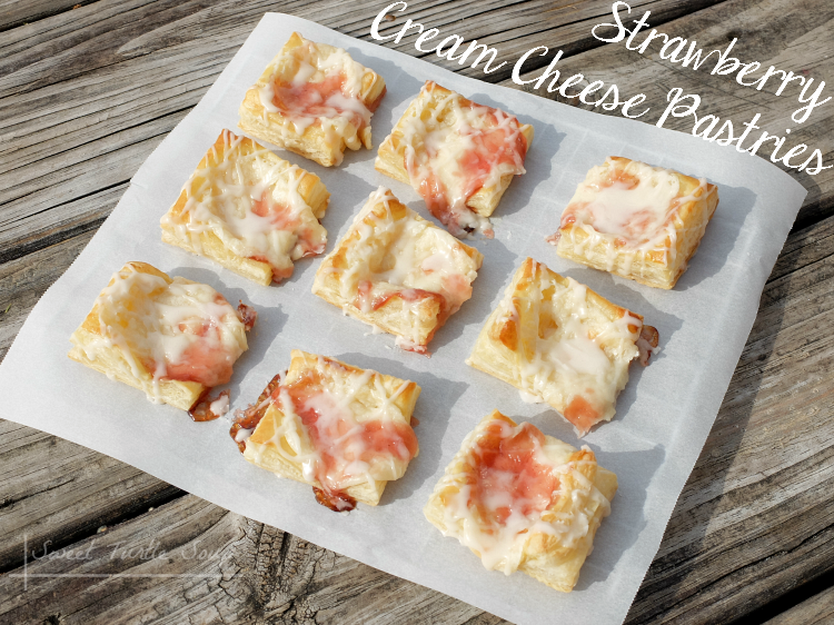 Sweet Turtle Soup: [Foodie for a Year - link up #2] - Strawberry Cream Cheese Pastries