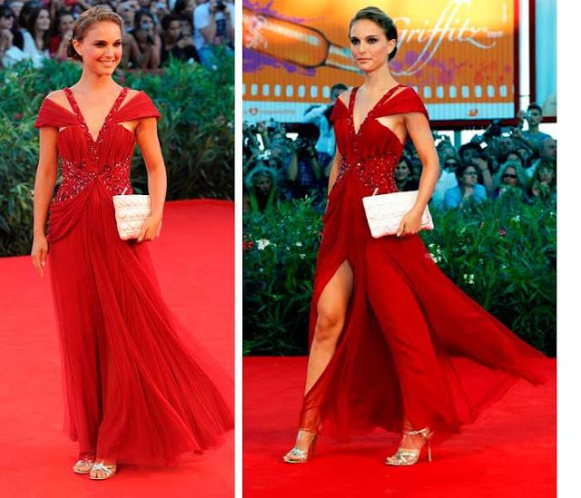 Vestido vermelho Natalie Portman