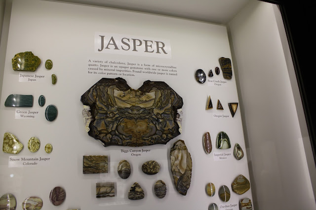 Gorgeous display on jasper at Lizzadro Museum