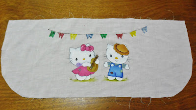 pintura de hello kitty com tema junino