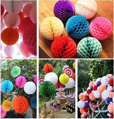 Honeycomb Ball 25 Cm Warna Warni