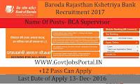 Baroda Rajasthan Garmin Bank Recruitment 2017